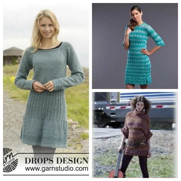 free sweater dress knitting patterns