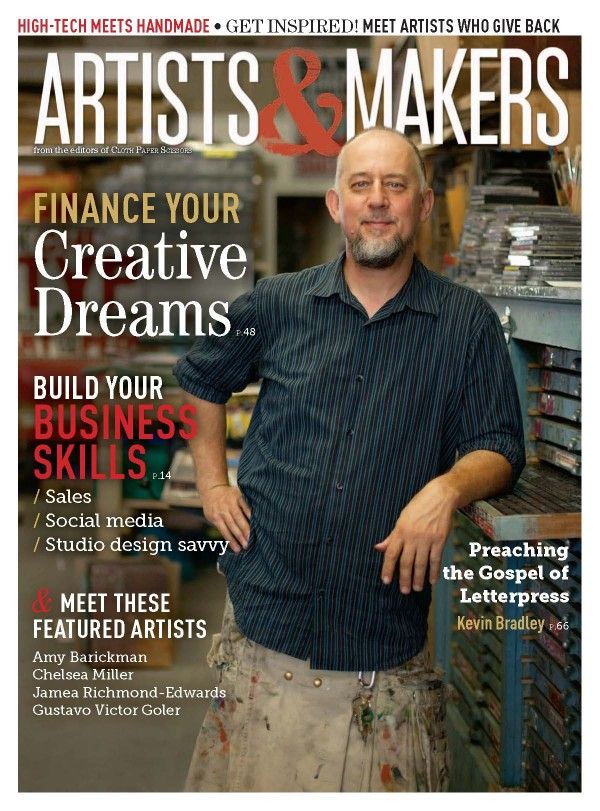win copy of artists & makers magazine