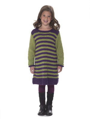 This sweet crewneck dress is part of the Next Generation collection from Lion Brand, honoring the sixth generation of the family that owns the company.
