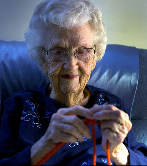 Read about Dody Patterson, a 104-year-old knitter