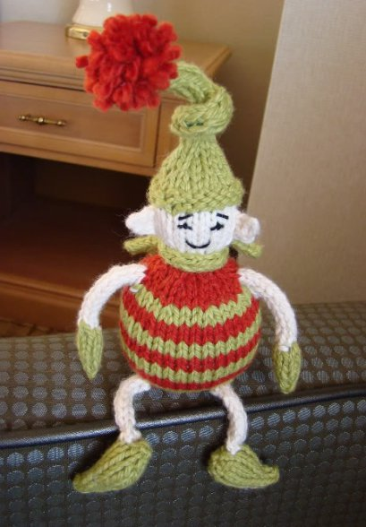 knit an elf for last-minute decor or gift giving