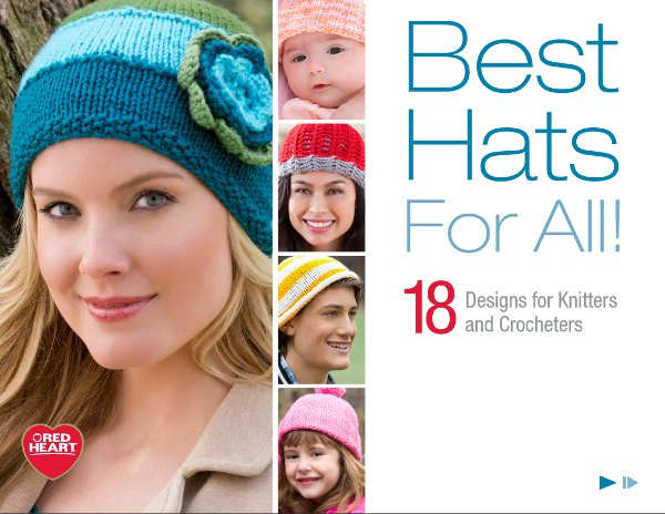 Hat knitting patterns free ebook form Red Heart.