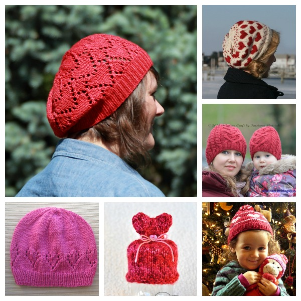 Knit a hat with heart for a useful and sweet Valentine's gift.