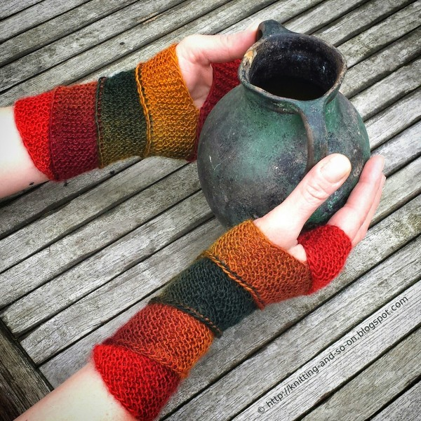 try these fun helix mitts worked in a spiral that's joined as you go.