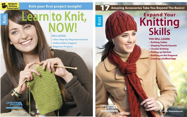 Win two Leisure Arts books to help you build your knitting skills.