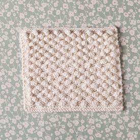 snowbobbles free dishcloth knitting pattern