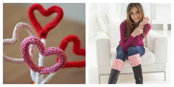 check out a couple of great last minute valentine knitting patterns
