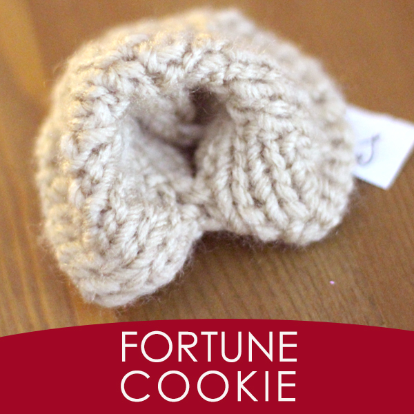 how to knit a fortune cookie
