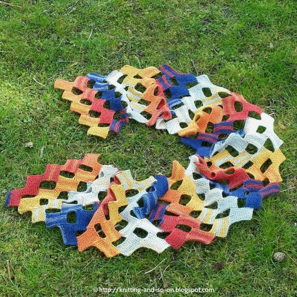 Knit A Summer Scarf With Open Rectangles Knitting