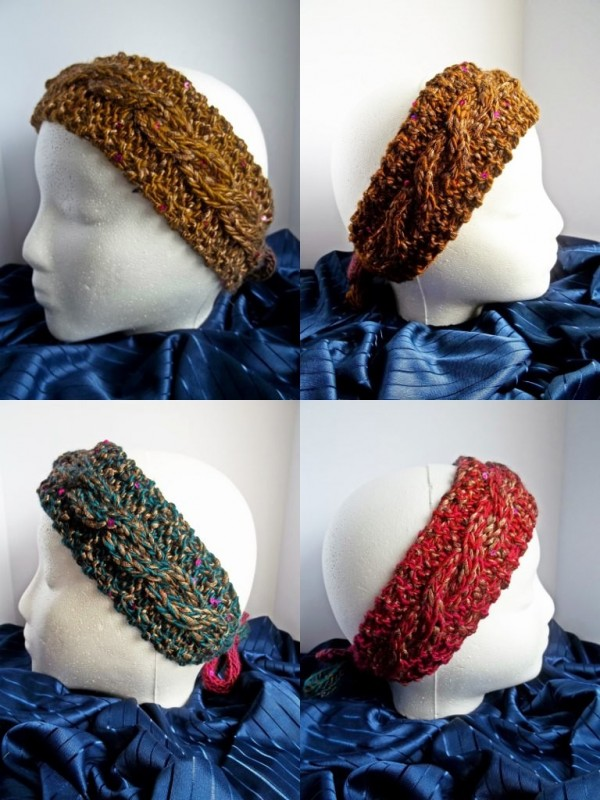 dabled headband knitting pattern