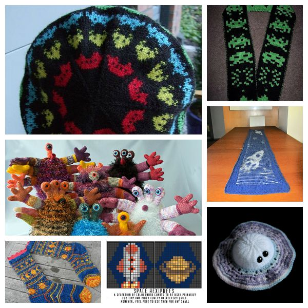 Check out these fun knitting projects with a space theme.