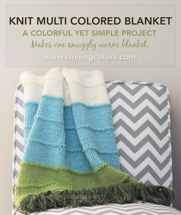 Get started on this simple, chunky striped throw this weekend.