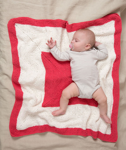red heart baby blanket
