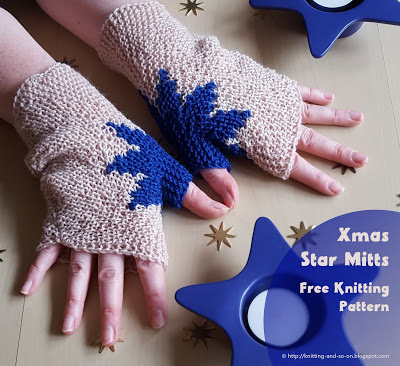 knit fun mitts with a star around the thumb