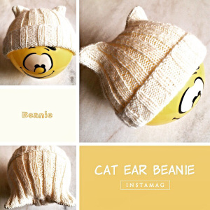 Knit a super simple cat ear hat