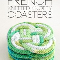 Use French Knitting to Make Cute Knotted Coasters