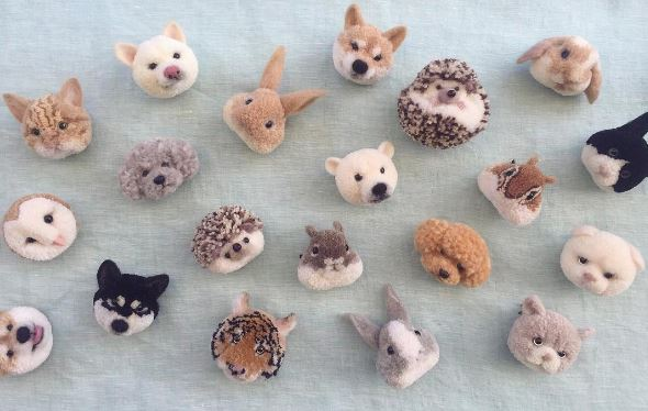 Check out these amazing animals made out of pompoms.