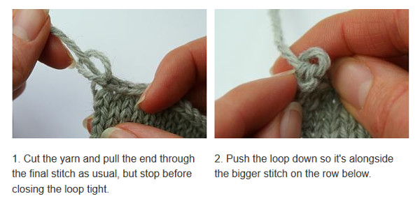 How to make the end of your bind off neater.