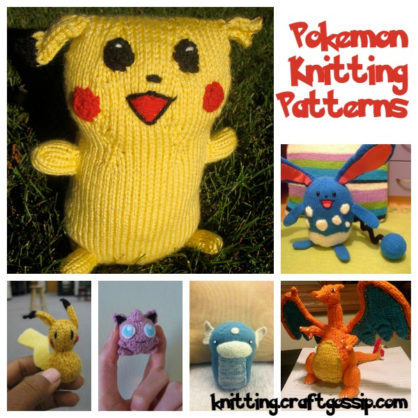 Pokemon Knitting Patterns: Gotta Knit  Em All   Knitting