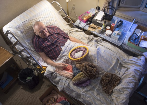 91-year-old in hospice still knitting hats for homeless.