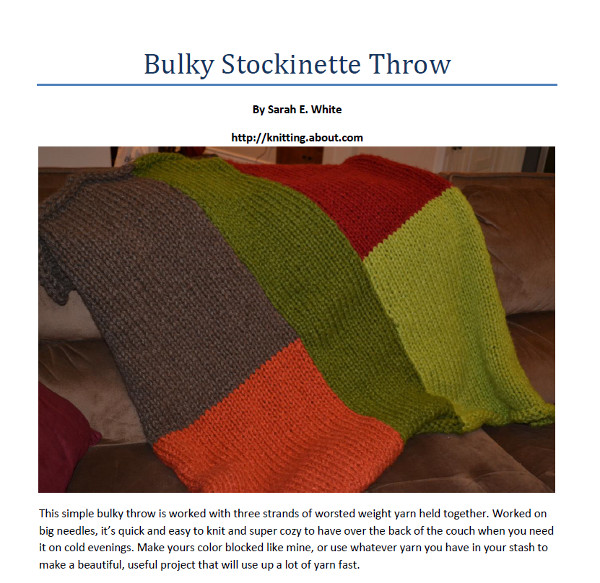 bulky throw knitting pattern ravelry