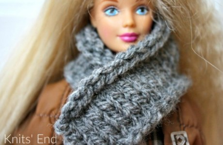 Knit a Simple Scarf for Barbie