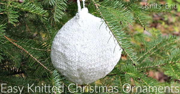 Christmas ball ornament knitting pattern