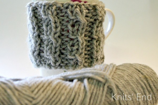 Easy knit coffee cozy pattern