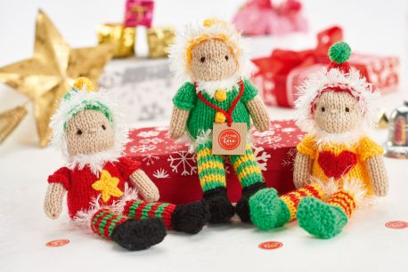Knit elves for Christmas.