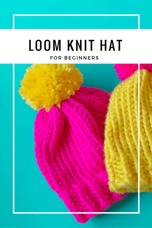 How to loom knit a hat.