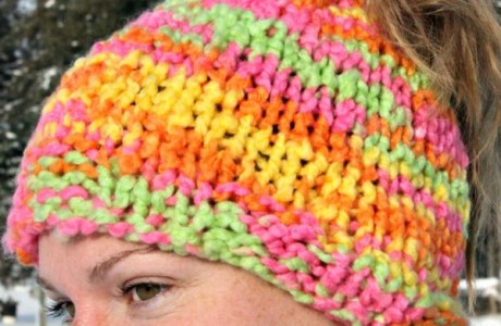 Another Easy Ponytail Hat Pattern