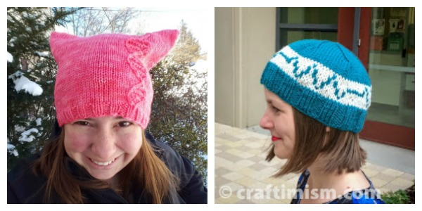 hat knitting patterns for the science marches