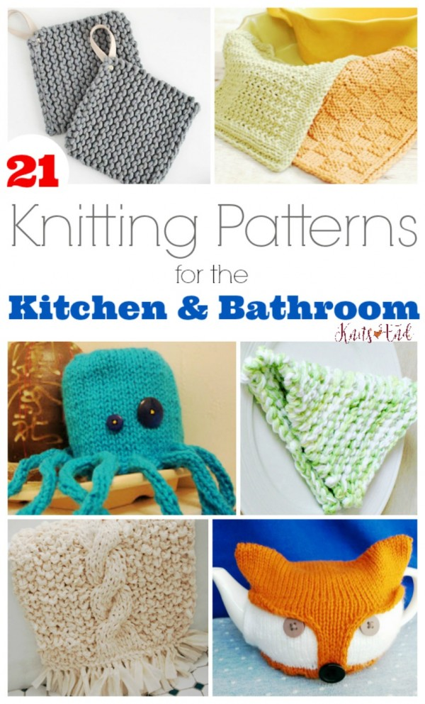 knitting patterns for the kitchen and bat