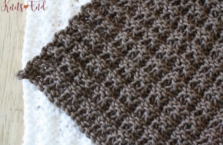 Knit a Simple Dishcloth in Waffle Stitch