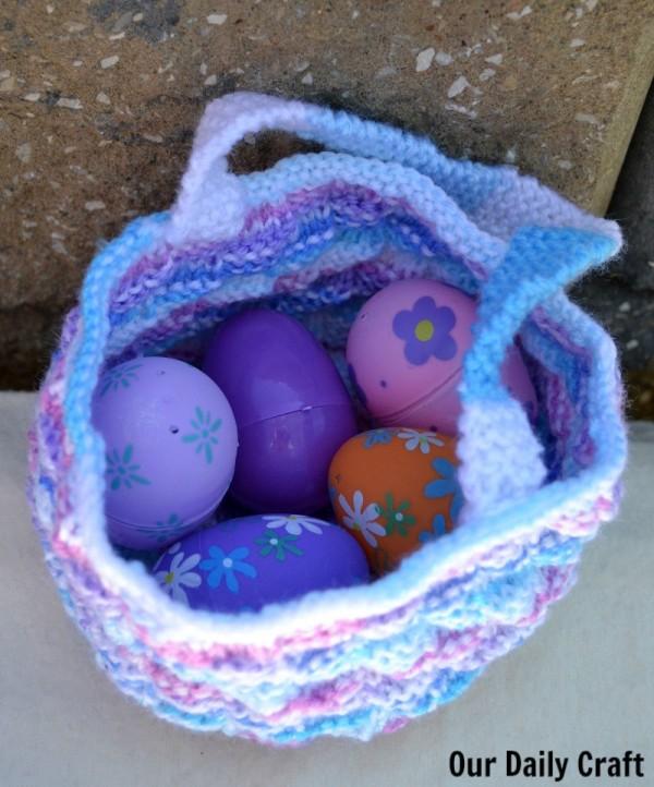easy knit easter basket