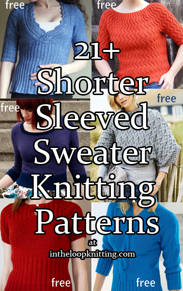 short sleeve sweater knitting patterns