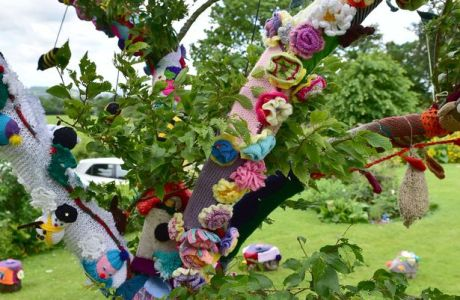 Friday Fun: Hospice Yarn Bombing, Mr. Rogers' Sweaters and More
