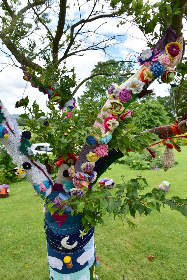yarn bombing at hospice