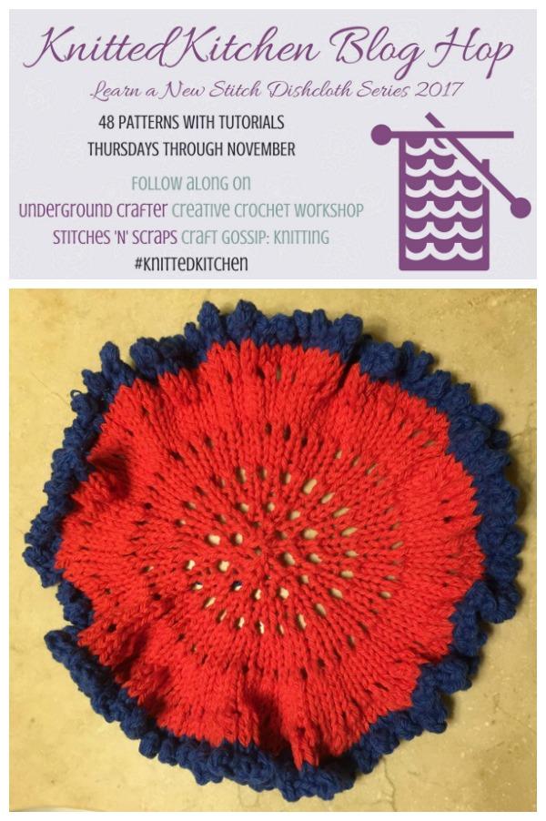 Stash Busting Frilly Circular Washcloth Knitting Pattern Knitting