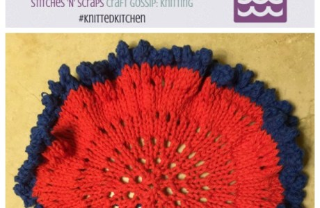 Stash-Busting, Frilly Circular Washcloth Knitting Pattern