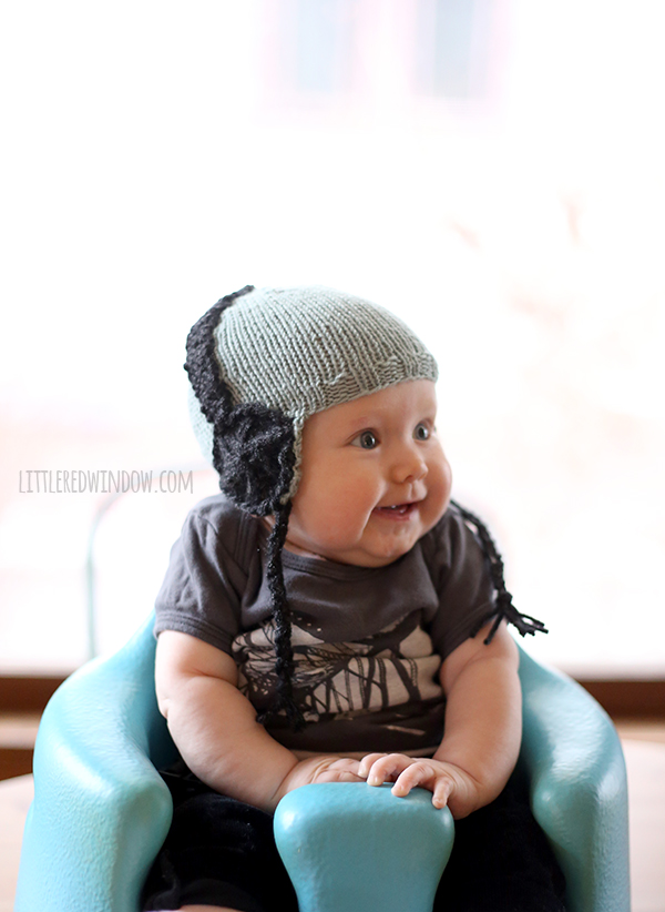 knit baby headphone hat