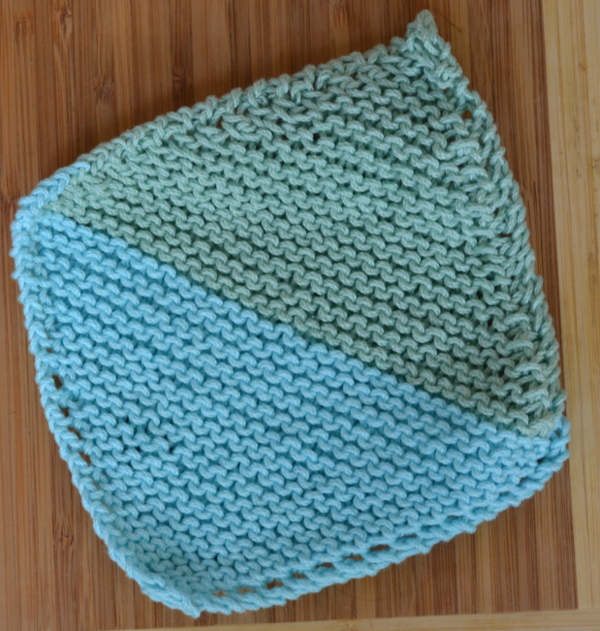 bias knit washcloth