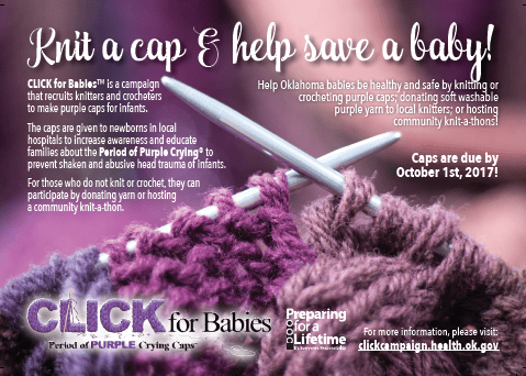 purple hats for babies in oklahoma