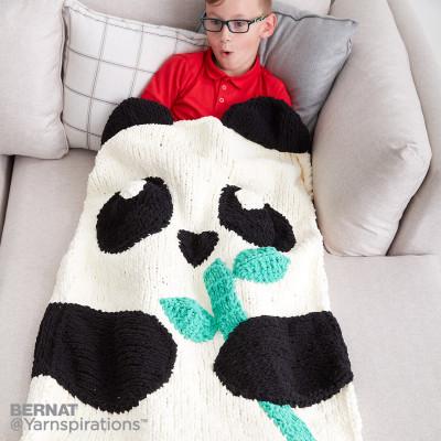 knit panda snuggle sack