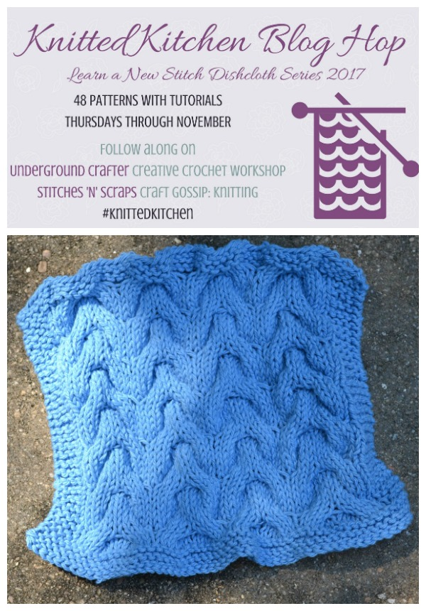 Chevron Cable Dishcloth Pattern Knitting