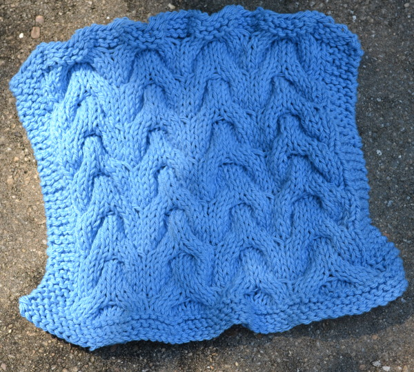 chevron cable dishcloth knitting pattern