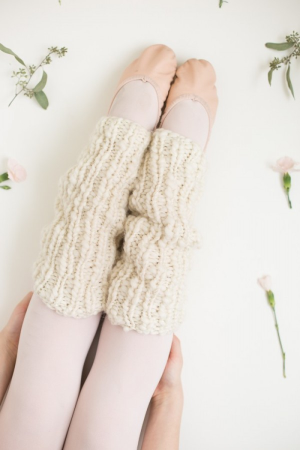 easy ribbed leg warmers pattern
