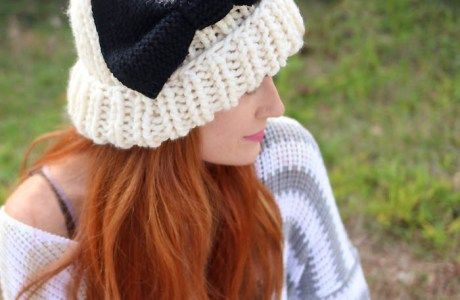 Knit a Eugenia Kim Inspired Hat with Bow