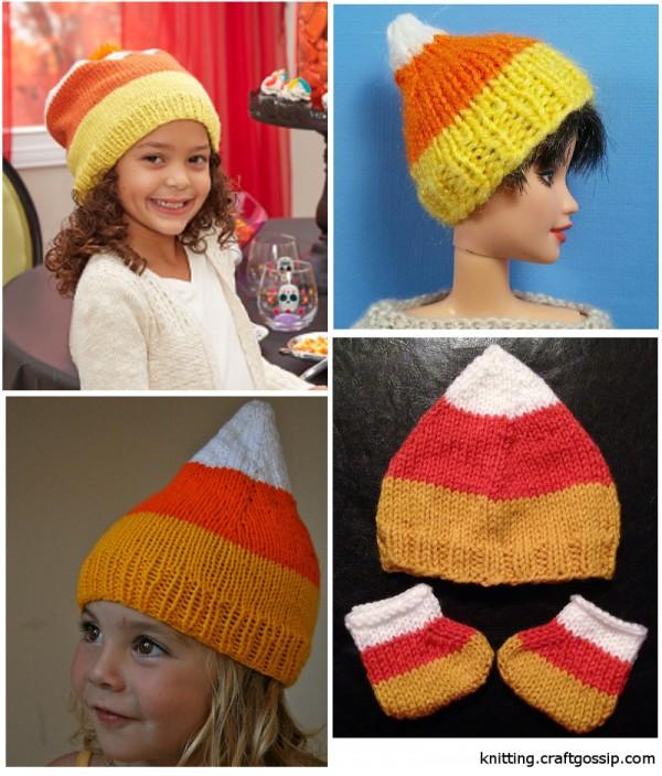 candy corn hat knitting patterns