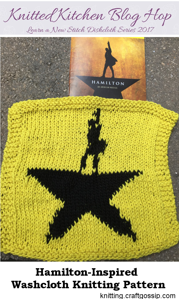 Knit a Hamilton inspired washcloth.